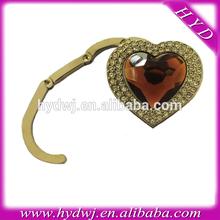 Trendy metal bag hanger with crystal diamond for sex girl gift