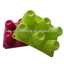 hot sale cute most popular new design custom promotional silicone cake pan,Muffin rose pan,Silicone rose cake pan