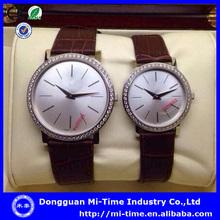 China manufacturer luxury leather unisex couple watch set fashion 2014