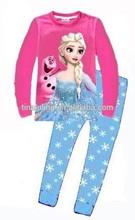 girls elsa queen pajamas sets kids 2pcs long sleeve frozen sleepwear
