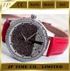Fashion Leather Bracelet Watch Women Dress Jelly Quartz Analog Watch Clock Dail,elegant girls leather watch