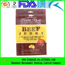euro hole zipper top beef jerky packaging bags