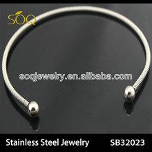 new stainless steel women elastic bangle bracelet