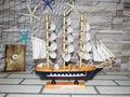 madeira 33cm catamaran pequeno barco à vela modelo