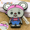 Fashion oem design direct factory aothorized product car key head cover with Mickey Mouse in silicone/soft pvc