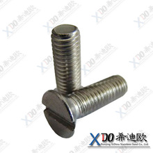 "Stainless Steel Machine Screw, Plain Finish, Flat Head, Slotted Drive, 3/16"" Length, #2-56 Threads"