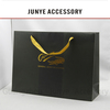 2014 quality factory price fashionable recycle craft brown company black shopping paper bags