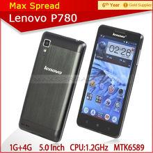 "5.0"" HD screen MT6589 1.2Ghz quad core 1gb ram 4gb rom lenovo p780 mobile phone"