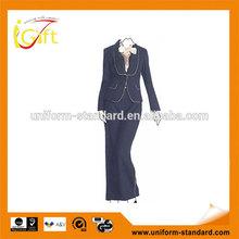 2014 ventas calientes de moda diseño traje de negocios para la señora