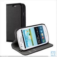 Alibaba China Supplier Stand Wallet Case Cover for Samsung Galaxy S3 Mini I8190 Leather Case P-SAMI8190SPCA001