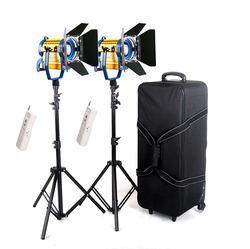 2014 Wireless Remote + 2 PCS Bi-color Led Video Spot Light