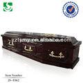 venda quente melhor lacado sólidos de madeira caixão funeral de preços