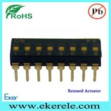 drehschalter 2.54mm Pitch A6D-8103 Dip Switch 8 Pin