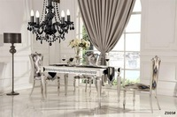 new style glass dining table set for sale Z005