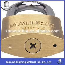 Security Brass Padlock With Cross Key