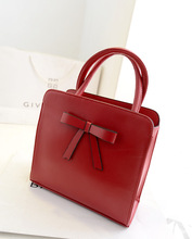 2014 new summer Korean style with bow genuine cow leather handbags wholesale china
