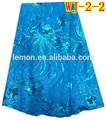 2014 nuovo design africano tessuto a rete, lago blu africano con paillettes oro