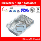 Hot Sale Rectangular Disposable Aluminum Foil Pan For Cake and Loaf