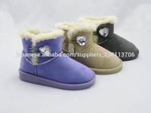 Hot sales button girls warm winter snow boots