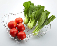 stainless steel fruit rack,fruit holder, vegetable basket