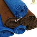 llanura de color sólido teñido de nylon micrfoiber tan plato de lavado de toallas
