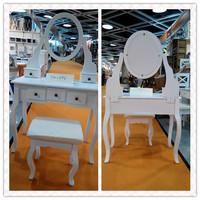 White Lacquer Bedroom Furniture K/D White Dresser Solid Wood Dresser Designs For European Market T10-6112