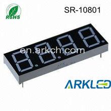 4 Digits 7 Segment LED Digital Display in digital prayer time clock