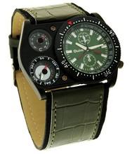 OULM Multiple Time Zone sub-dials decoration Boat nails quartz Sports Watch water resistant quartz watches 3 bar