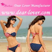 venta al por mayor los últimos flecos de la bandera americana para mujer bikinis