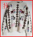 De mano para mujer de punto jersey de lana suéteres chompas alpaca