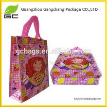 Cartoon printed fashion pp lamination non woven bag