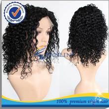 Natural Looking long lasting cheap brazilian hair afro wig