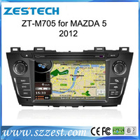 ZESTECH HD800*480 digital screen with audio player gps navi car dvd player for Mazda 5