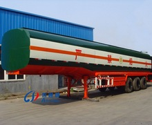 China Tri-axle Aluminum Fuel Tanker(Cylindrical-Type Tank) for export ,high quality bitumen tank trailer for export