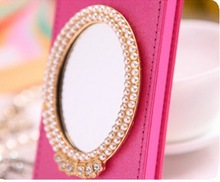 Wholesale - Perfect Mirror Design Cases Flip Leather Cover Case For Apple iPhone 5 5G