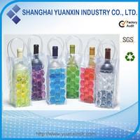 new plastic PVC ice bag for wine,insulated beer bottle holders