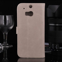 Flip Stand PU Leather Wallet Case Cover for HTC One M8 Case