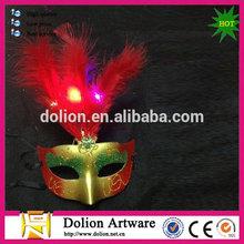 led light Feather Mardi Gras Mask