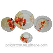 20-piece Ceramic Round-shaped Dinnerware Set, Extra White Porcelain, Meets FDA/Pro65 Standard
