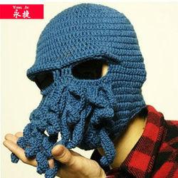 winter cheap wholesale customize knit octopus ski mask hat