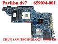659094-001, la placa base del ordenador portátil dv7 dv7-6000 serie placa base, sistema de junta