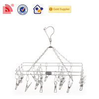 Multi clip over door child size wire hangers for exports