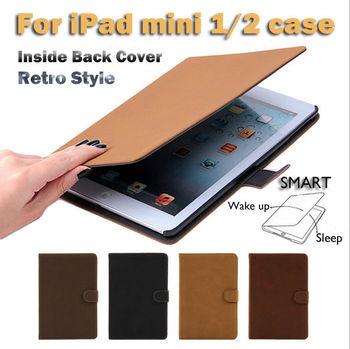 Smart Leather Cover Case For iPad mini,Sleep Wake Stand For iPad Mini case