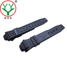 high quality strong 22mm rubber jelly polar watch strap