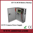 DC power supply 12v 5a 8ch cctv security Battery Backup power supply