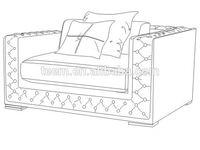 Divany Furniture living room furniture LS-105A sofa design sickroom furniture