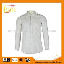 US simple design white color men formal shirts