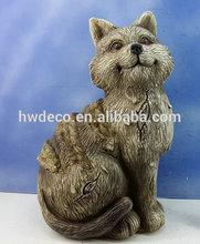 2014 new RESIN GARDEN DECORATION CAT