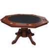 octagon poker table top with wooden tigher leg