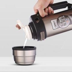 2l 18/8 stainless steel vacuum travel tea jugs vacuum travel pot